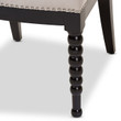 Baxton Studio Heather Modern and Contemporary Beige Fabric Upholstered and Black Finish Wood Dining Chair