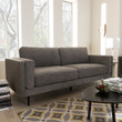 Baxton Studio Brittany Retro Mid-Century Modern Grey Fabric Upholstered 3-Seater Loveseat