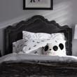 Baxton Studio Nadeen Modern and Contemporary Dark Grey Fabric Headboard