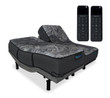 iDealBed Luxe Series Hybrid iQ5 Luxury Firm Mattress with Reverie 7HT Adjustable Bed Base and Remotes Split King