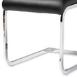 Baxton Studio Cyprien Modern and Contemporary Black Faux Leather Upholstered Dining Chair