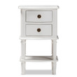 Baxton Studio Audrey Country Cottage Farmhouse White Finished 2-Drawer Nightstand