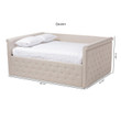 Baxton Studio Amaya Modern and Contemporary Light Beige Fabric Upholstered Daybed