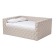 Baxton Studio Anabella Modern and Contemporary Light Beige Fabric Upholstered Daybed