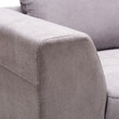 Baxton Studio Petra Modern and Contemporary Gray Fabric Upholstered Right Facing Sectional Sofa