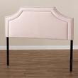 Baxton Studio Avignon Modern and Contemporary Light Pink Velvet Fabric Upholstered Headboard