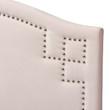Baxton Studio Aubrey Modern and Contemporary Light Pink Velvet Fabric Upholstered Headboard