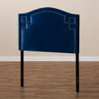 Baxton Studio Aubrey Modern and Contemporary Royal Blue Velvet Fabric Upholstered Headboard