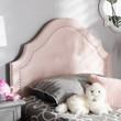 Baxton Studio Cora Modern and Contemporary Light Pink Velvet Fabric Upholstered Headboard