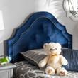 Baxton Studio Cora Modern and Contemporary Royal Blue Velvet Fabric Upholstered Headboard