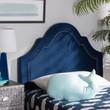 Baxton Studio Rita Modern and Contemporary Navy Blue Velvet Fabric Upholstered Headboard