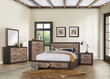 Homelegance Miter Collection 4 Piece Bedroom Set in Mahogany