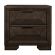 Homelegance Chesky Collection Nightstand; Front View