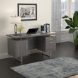 Coaster Lawtey Floating Top Office Desk in Weathered Grey; Lifestyle