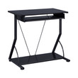 Coaster Harper Computer Desk with Keyboard Tray in Black
