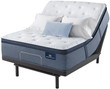 Serta Perfect Sleeper Sapphire Canyon Plush Pillow Top Mattress; with Adjustable Bed