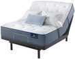 Serta Perfect Sleeper Sapphire Canyon Plush Mattress; With Adjustable Bed Base