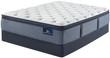 Serta Perfect Sleeper Cobalt Coast Plush Pillow Top Mattress; with Box Spring