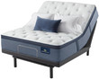 Serta Perfect Sleeper Cobalt Coast Plush Pillow Top Mattress; with Adjustable Bed