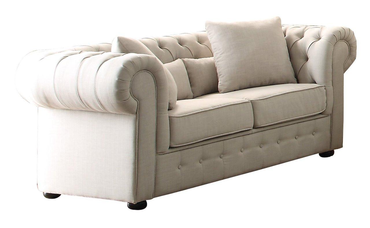 Homelegance Grand Chesterfield Love Seat Upholstered