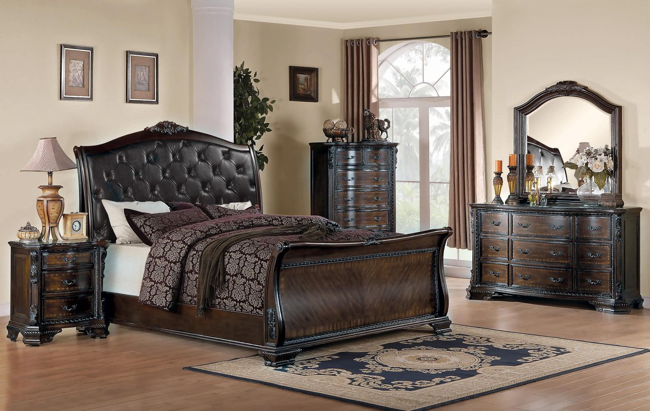 Coaster Bedroom Sets | Coaster Maddison Collection 5 Piece Upholstered Sleigh Bedroom Set