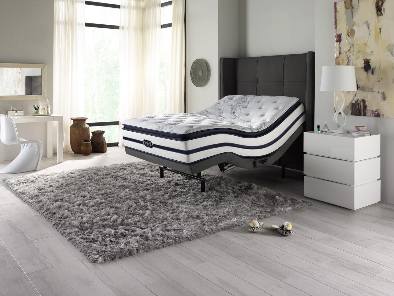 Beautyrest Recharge Plush Pillow Top Mattress Renew Grey Adjustable