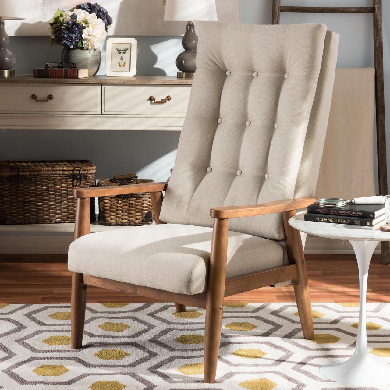 Baxton Studio Roxy Mid-Century Modern Walnut Brown Finish Wood and ...