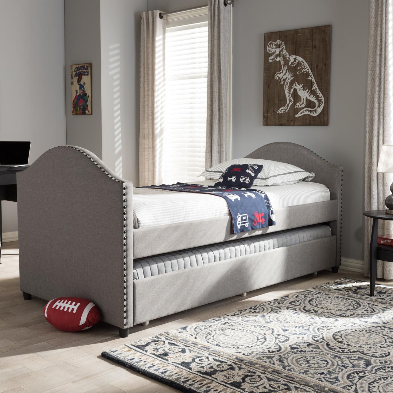 Baxton Studio Alessia Modern And Contemporary Grey Fabric