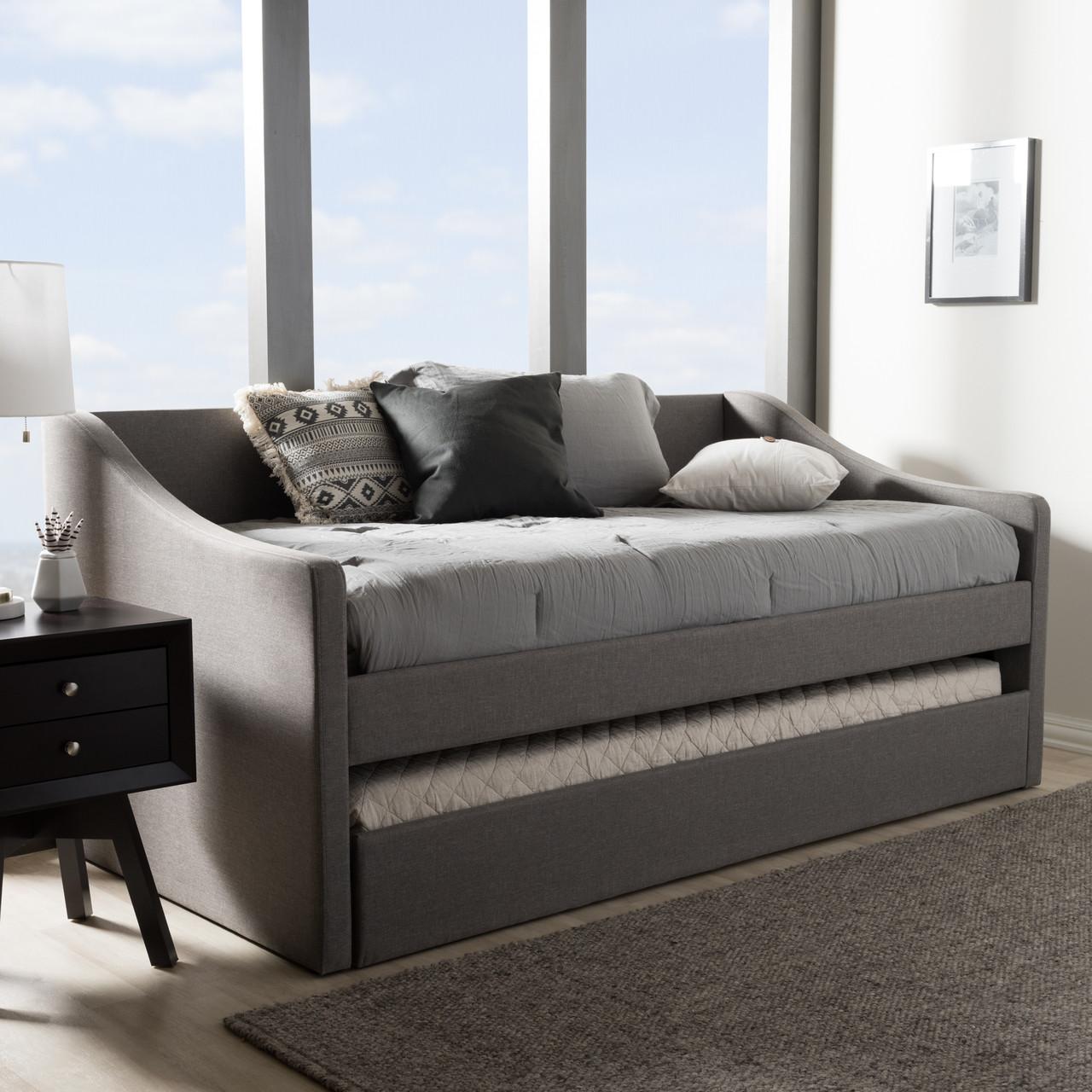 - Baxton Studio Barnstorm Modern And Contemporary Grey Fabric