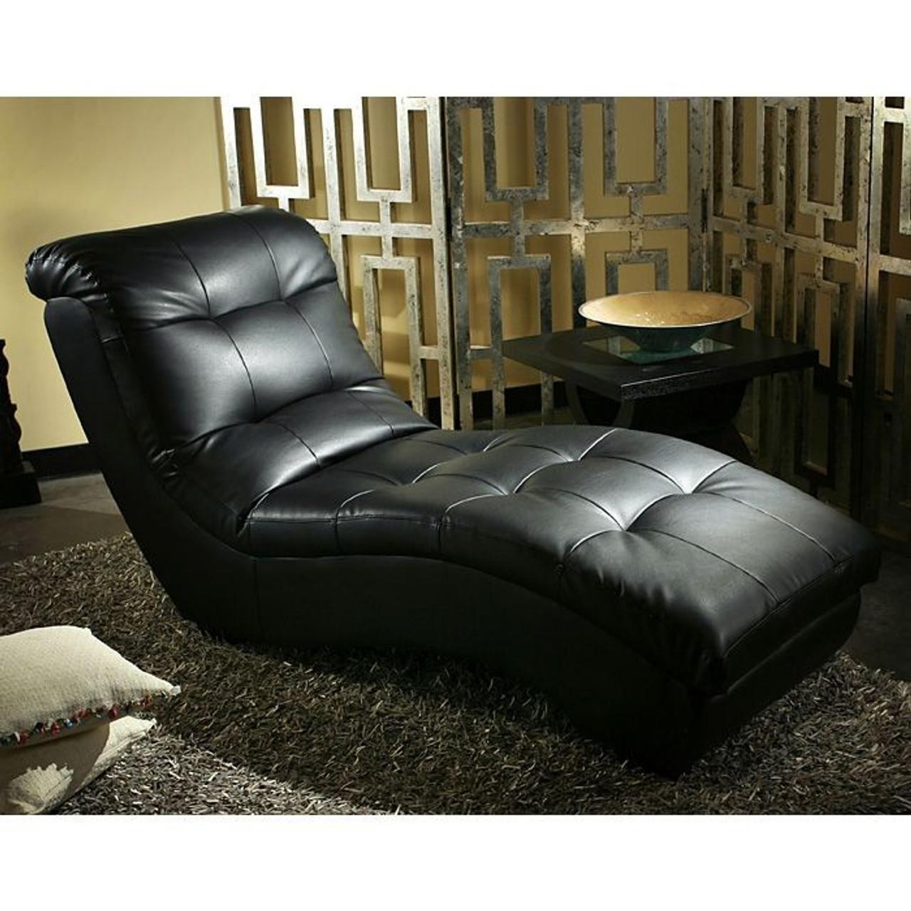 Diamond Sofa Metro Chaise Lounge In Black Dealbeds Com