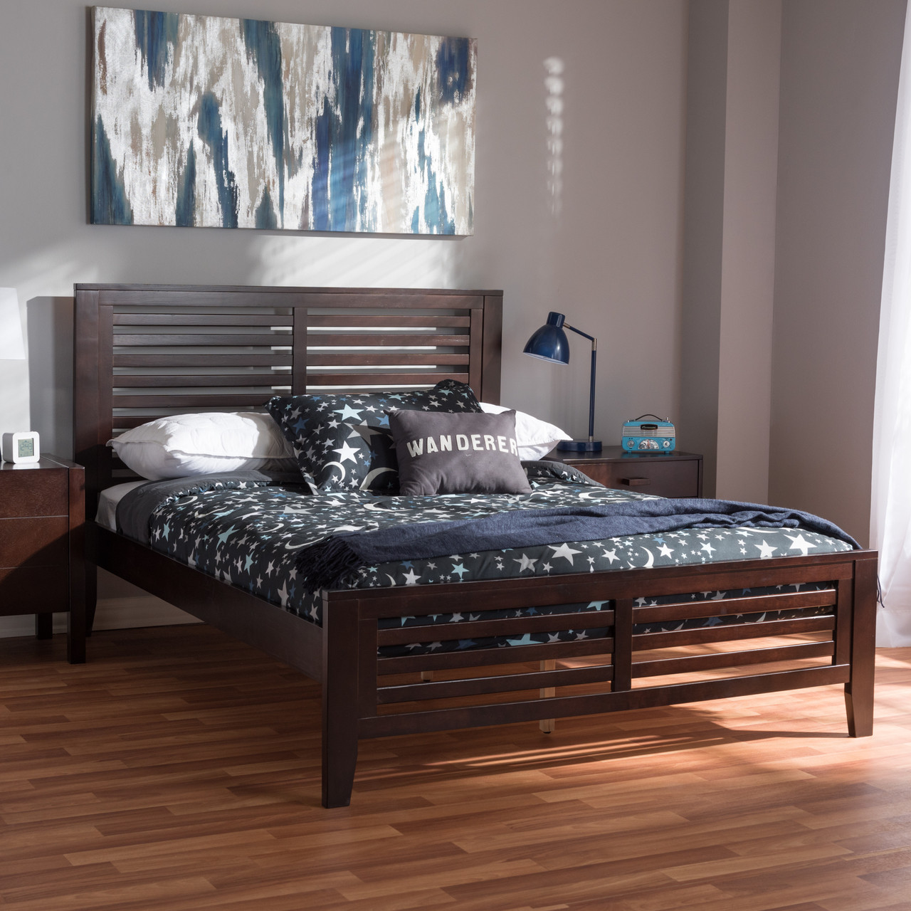 e3b4299c31 Zoom the image with the mouse. Baxton Studio Sedona Modern Classic Mission  Style Espresso Brown-Finished Wood Full Platform Bed