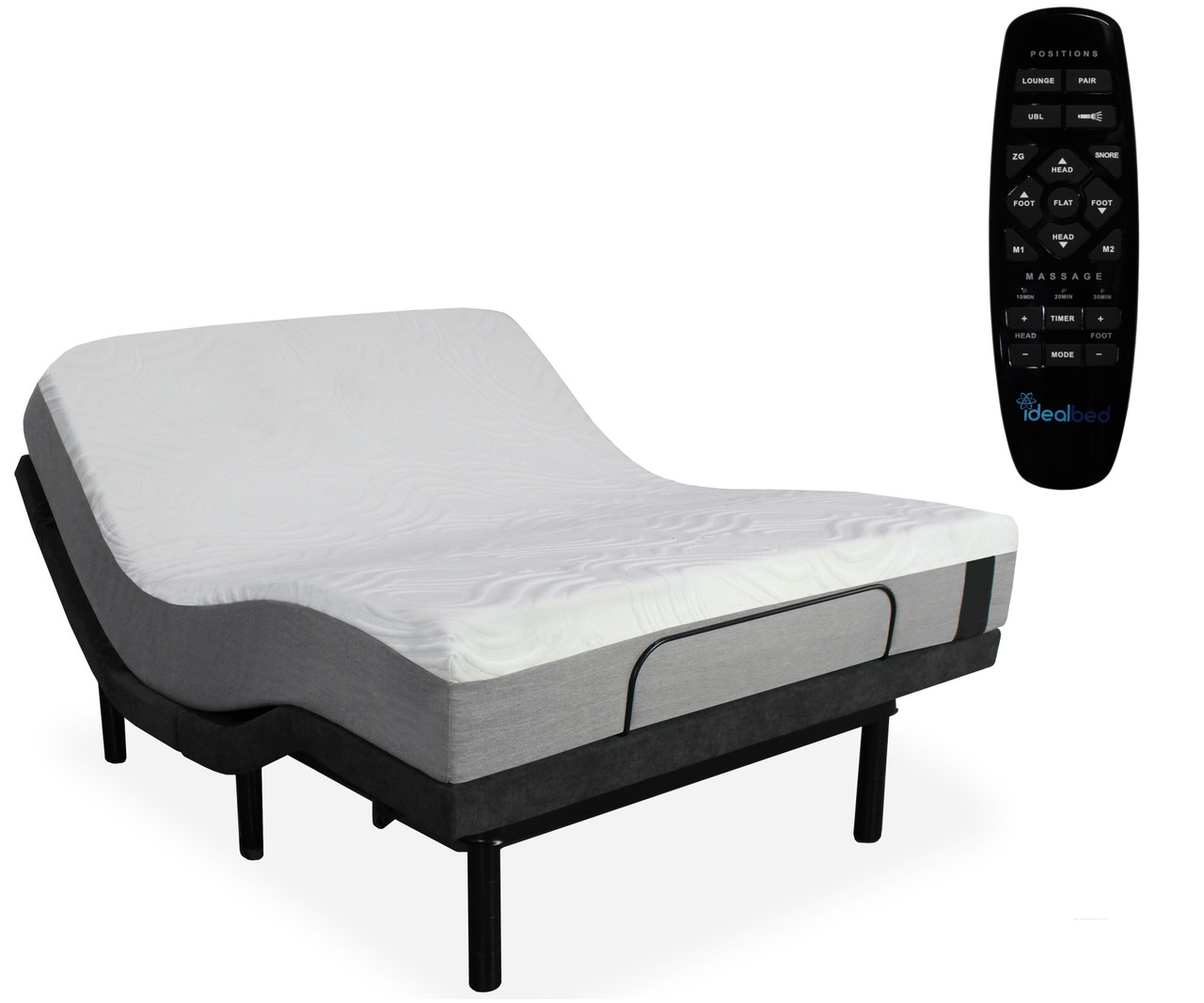 Idealbed I2 Gel Memory Foam Mattress With 4i Adjustable Bed Sleep System Dealbeds Com