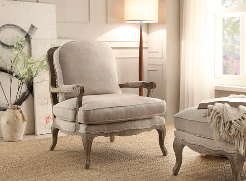Homelegance Parlier Grey Weathered Upholstered Accent Chair
