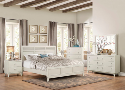 Homelegance Valpico Light Gray Casual Contemporary 4-Piece Bedroom Set