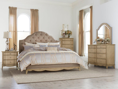 Homelegance Ashden Driftwood 4-Piece Upholstered Bedroom Set
