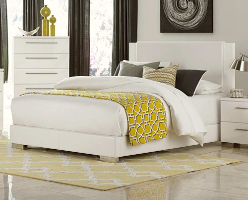 Homelegance Linnea White High Gloss Platform Bed