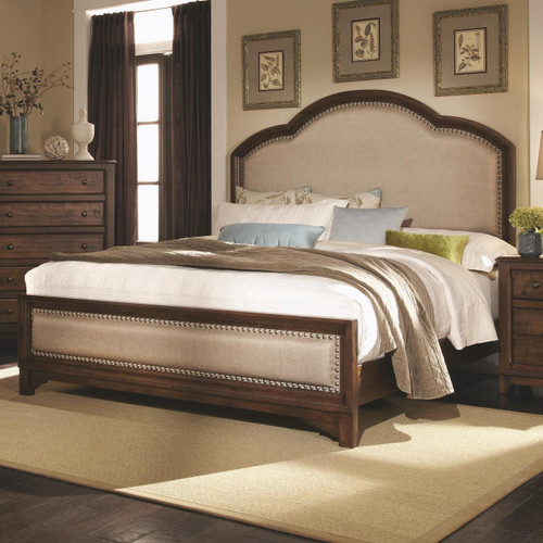 Coaster Laughton Upholstered Panel Bed Image