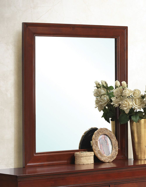 Coaster Louis Philippe Mirror in Cherry