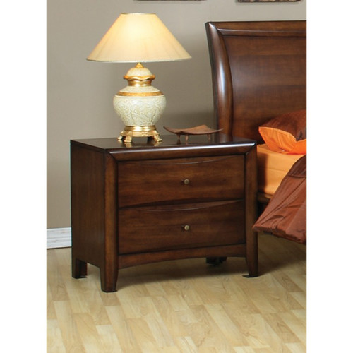 Coaster Hillary 2 Drawer Nightstand in Walnut Brown 2
