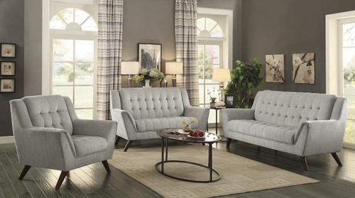 Coaster Natalia 3 Piece Living Room Set in Dove Grey