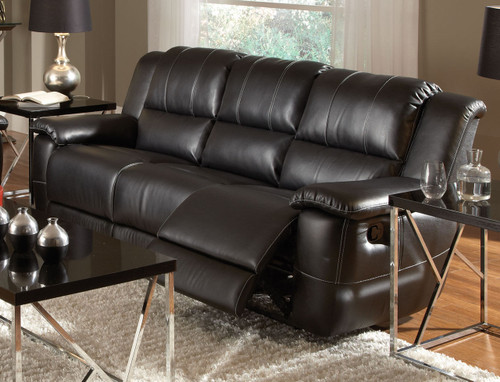 Coaster Lee Transitional Motion Sofa in Black