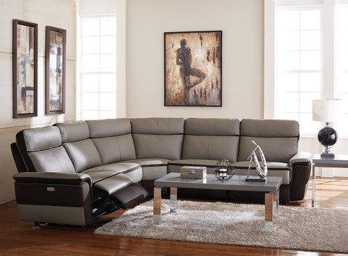Homelegance Laertes Sectional in Taupe Grey
