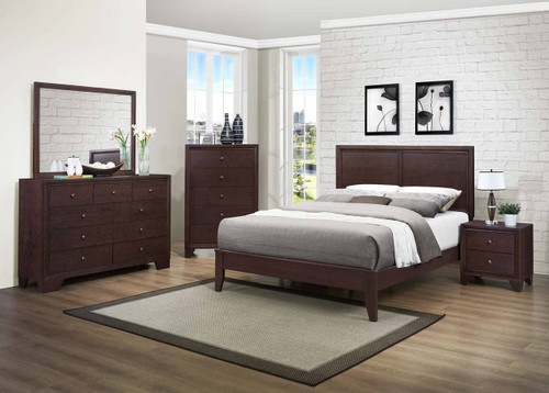 Homelegance Kari 4-Piece Bedroom Set in Warm Brown Image 1