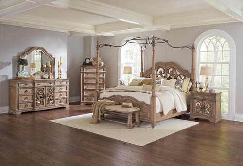 Coaster Ilana Collection Poster 5 Piece Bedroom Set in Driftwood