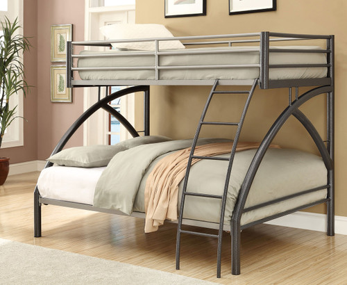 Coaster Cheshire Contemporary Bunk Bed in Gunmetal