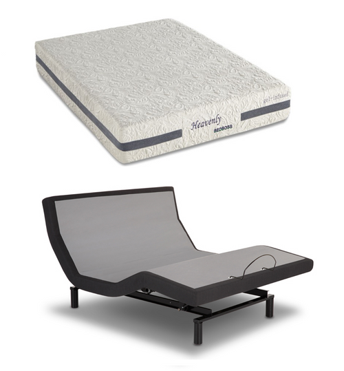 iDealBed Heavenly Hybrid Mattress Leggett & Platt iDealBed iEscape Adjustable Set