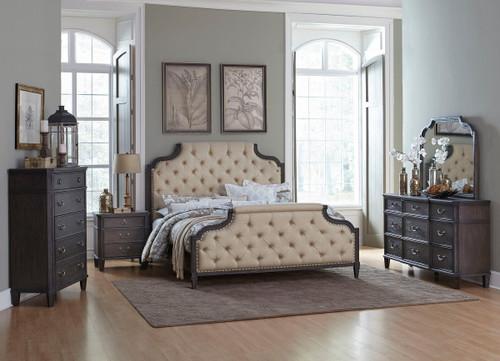 Homelegance Lindley Button Tufted Upholstered Bedroom Set