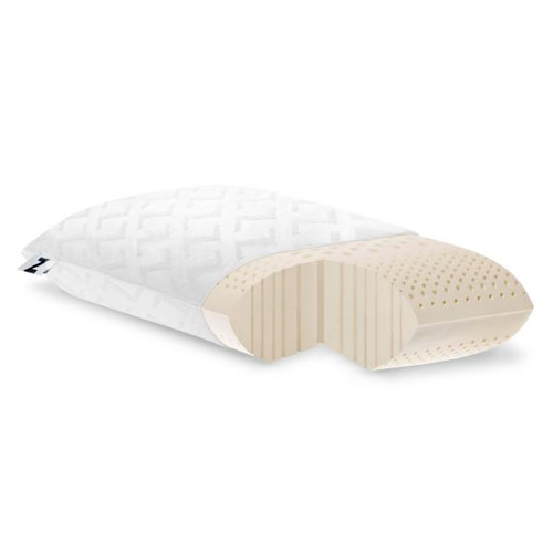 Malouf Z Zoned Talalay Latex Pillow Firm Low Loft 1