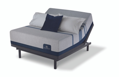 Serta iComfort Blue Max 5000 Elite Luxury Firm Mattress with Motion Essentials III Adjustable Bed Set