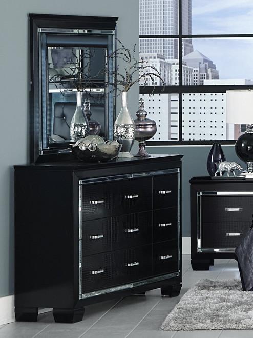 Homelegance Allura Collection Mirror in Black
